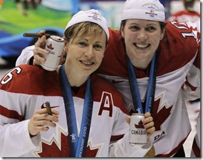Canadian Women Hockey beer cigars
