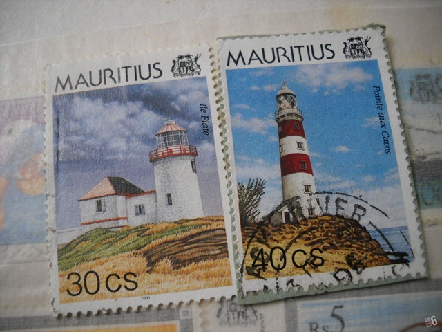 Mauritius lighthouses stamp issued 1995.