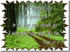 Bible Study Psalms 32 8
