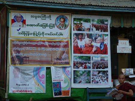 Revolutia Safronului - revolta calugarilor budisti din Myanmar
