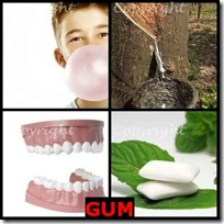 GUM- 4 Pics 1 Word Answers 3 Letters
