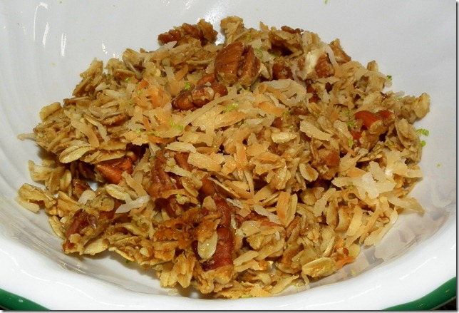 Coconut Lime Granola with pecans 2-21-12
