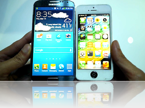 galaxy-s4 vs iphone-5