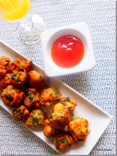 easy Saag bhaji palak pakora pakoda recipe vada bada recipe
