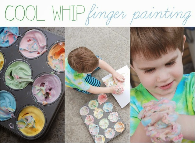 cool whip finger painting