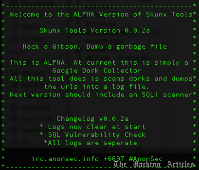 SkunxTools: A WebApp Pentest Tool