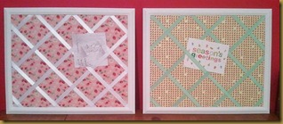 Memo Boards - pink and green