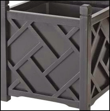 black home depot planter
