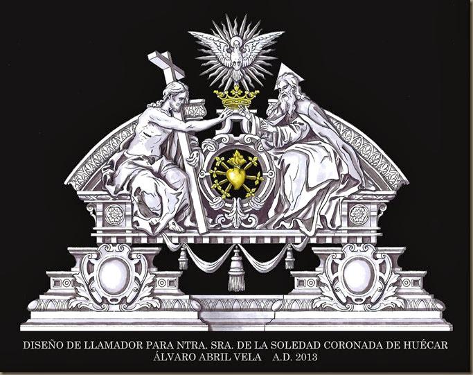 DISEÑO DE LLAMADOR ORFEBRERIA ALVARO ABRIL VELA 2014 SOLEDAD CORONADA HUESCAR GRANADA