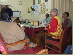 Meeting with District Medical Officer