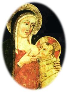 Fresco del convento de Greccio, la Toscana (Italia)