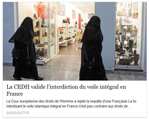 Integrisme refusat pel sistèma juridic francés
