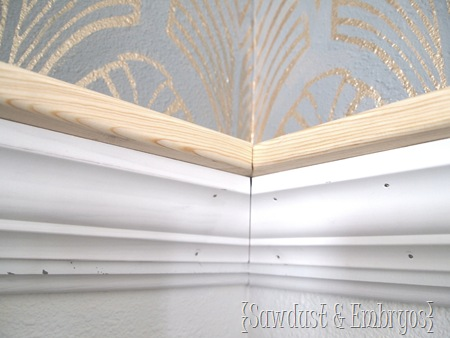 Inside Corner Joint ~ Crown Molding Tutorial {Sawdust and Embryos}
