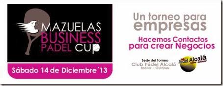 I Torneo Mazuelas Business Pádel Cup 14 Diciembre 2013 en Alcalá de Henares, Madrid.