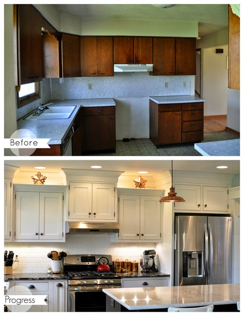 kitchen redo white cabinets