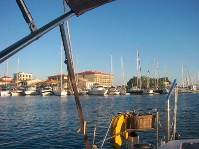 Town quay Lefkas Lefkada Greece
