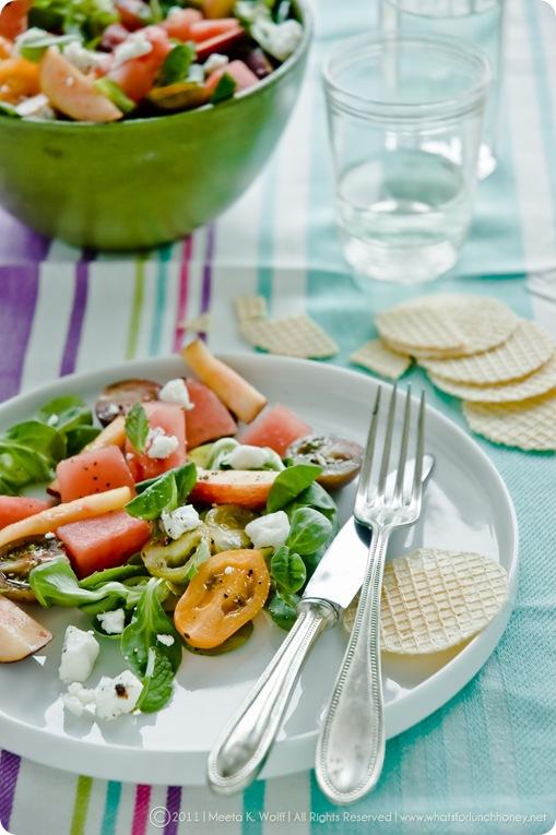Watermelon Peach Feta Salad (0009) by Meeta K. Wolff