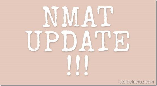 NMAT update