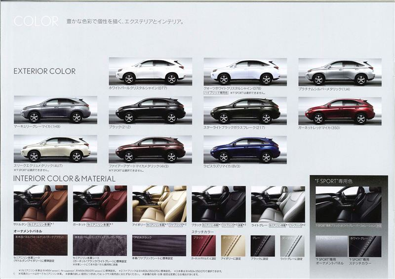Japan S Exterior And Interior Color Selections For The Facelifted