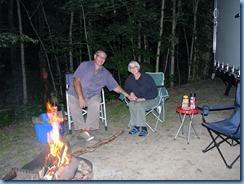 7233 Restoule Provincial Park - Peter & Janette at campfire