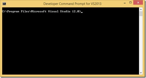 Developer Command Prompt