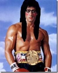 Antes era Popó, agora Rocky Balboa