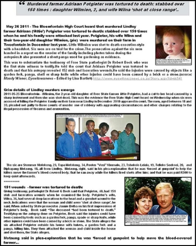 POTGIETER FAMILY LINDLEY HORRIFIC TORTURE THEN EXECUTION