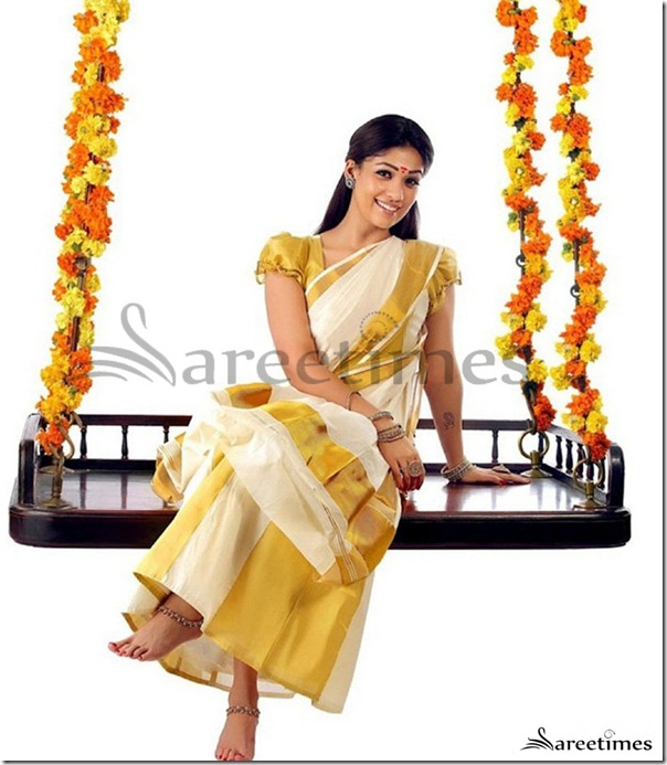 Nayanathara_Kerala_Traditional_Saree