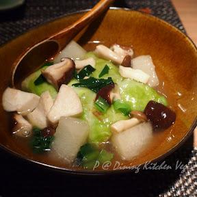 雞軟骨鴨胸絞肉野菜卷冬瓜汁 @ Dining Kitchen Vegi