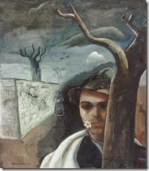 Felix Nussbaum - Self portrait with appel blossoom 1939