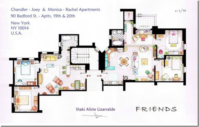Television-Series-Apartments-Floor-Plans-Friends
