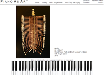 piano as art website