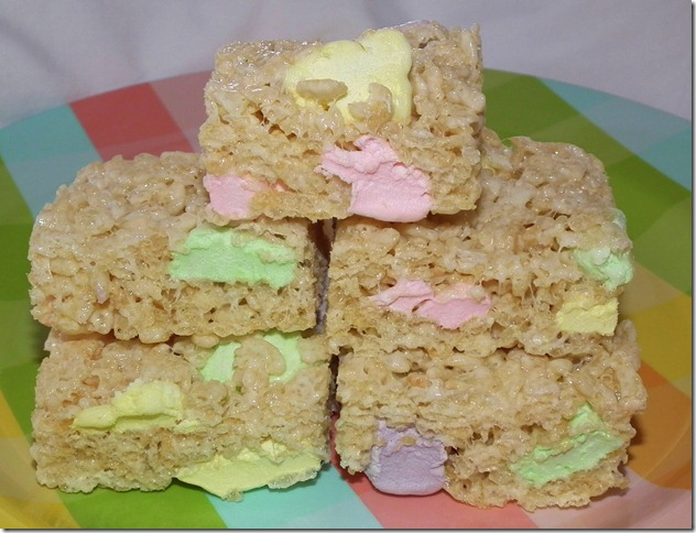 Spring Marshmallow Rice Krispies Treats 4-3-12