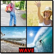 WAVE- 4 Pics 1 Word Answers 3 Letters