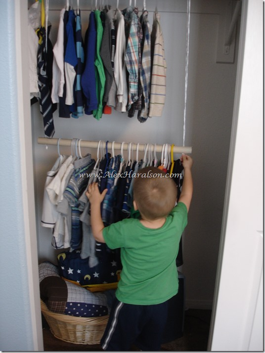 Easy Kids Closet Organization8