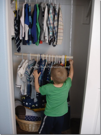 Alex Haralson Hanging Clothes Bar for Kids Closets