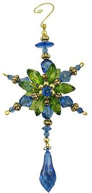 peacock-starburst-dangle ornament