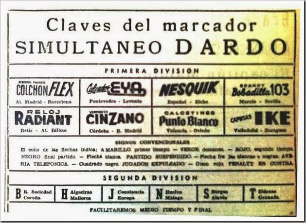 años 60 - Marcador Dardo