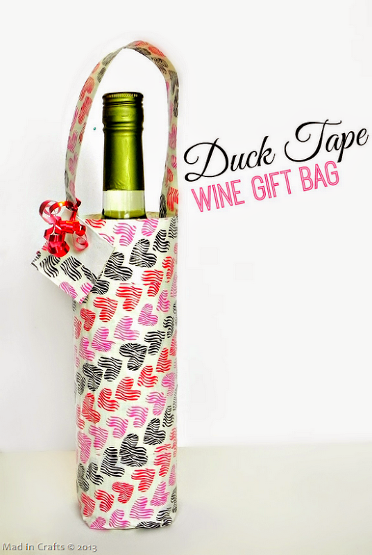 DIY Duck Tape Wine Gift Bag