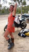 Nichts wie raus aus den Klamotten bei 40Grad in Canberra