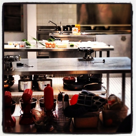 Work station ready at L'Ataliers des Chefs