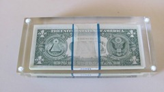 acrylic $1 bill pack paperweight