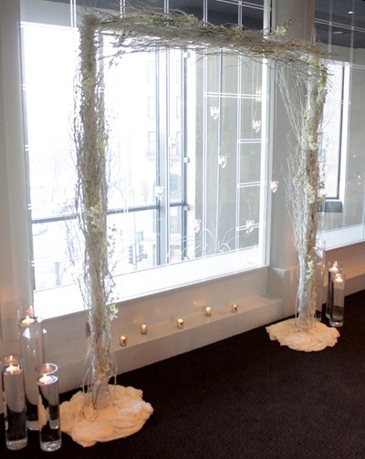 Hello Darling - Modern candlelit branch arch