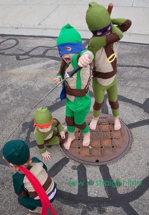 TMNT Teenage Mutant Ninja Turtles Costume sew a straight line-9-2