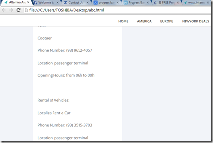 open in html file