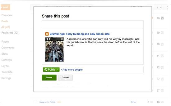 Condivisione dei post su Google _2