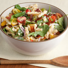 Corn and Pasta Salad with Homemade Ranch Dressing