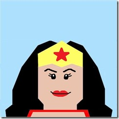 Paper pieced LEGO Wonder Woman