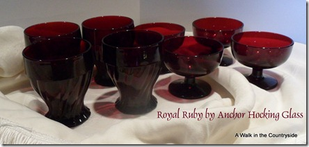 A Walk in the Countryside:  Royal Ruby by Anchorglass