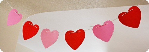 Homemade Heart Garland